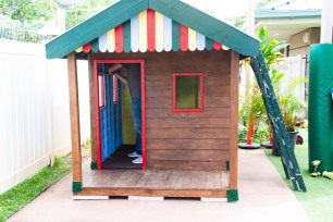 The finished playhouse